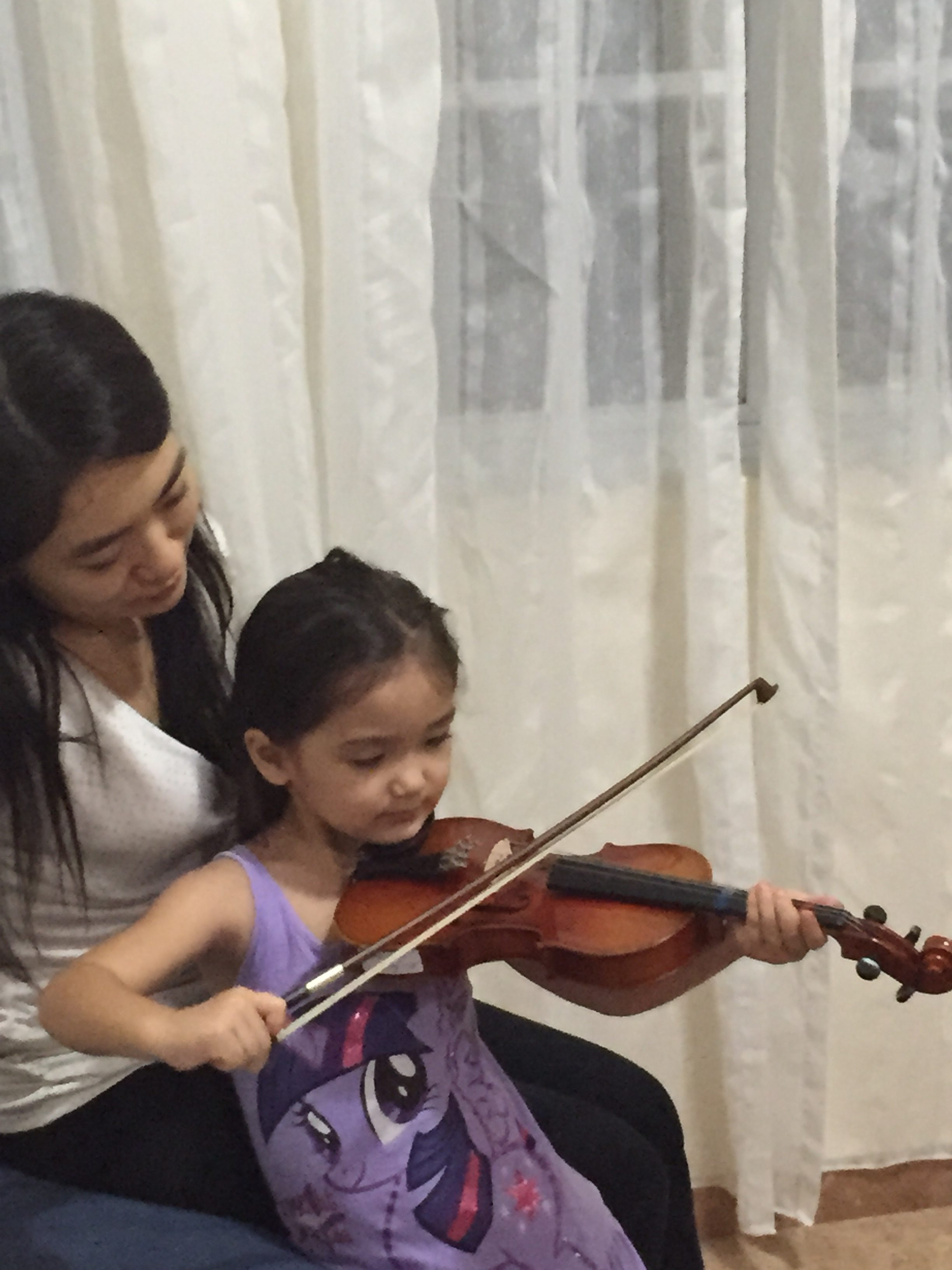 Child Violin Lesson