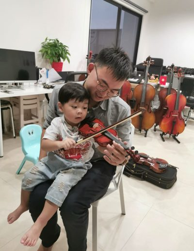 Cute Kids with Violin