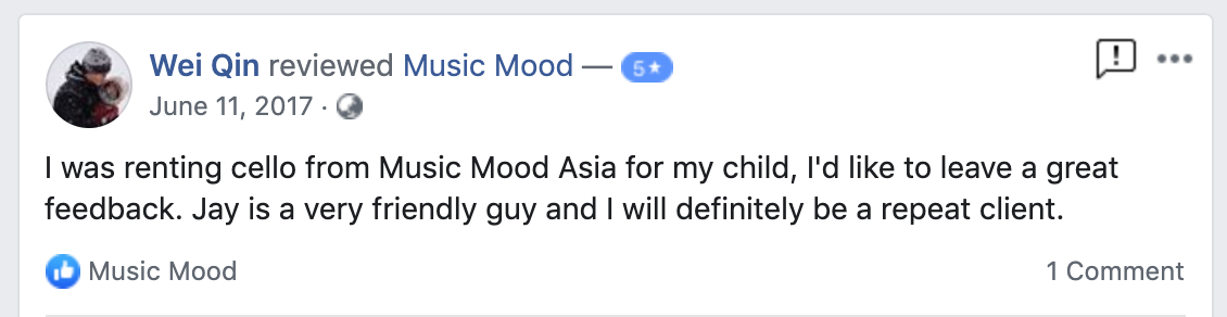 great review for music mood cello rental