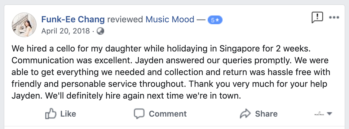 Cello rental in singapore